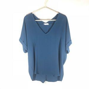 NWOT [LUSH] Short Sleeve V-neck Blouse